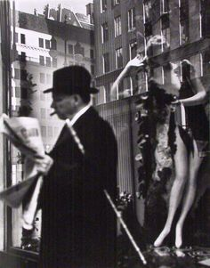 Lisette Model:Reflection in a New York department store window, 1950.