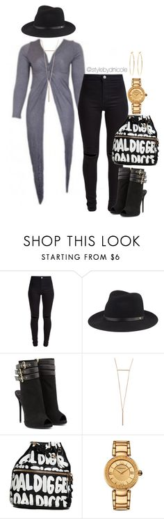 """Untitled #3214"" by stylebydnicole ❤ liked on Polyvore featuring New Look, rag & bone, Giuseppe Zanotti, Versace, Brooks Brothers, women's clothing, women, female, woman and misses"