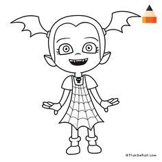ausmalbilder disney vampirina, malvorlagen disney
