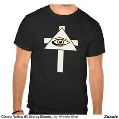 Classic Yellow All Seeing Illuminati Eye Tee