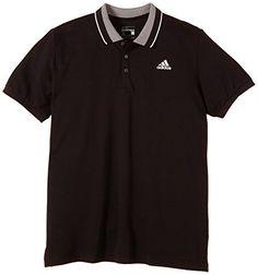 adidas S12329 Essentials Polo manches courtes Homme: adidas Sport Essential Polo Hommes Chemise Noir – Fente côté coutures – Côtelé col…
