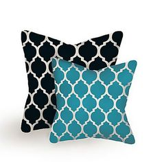 Throw pillows different colors though.