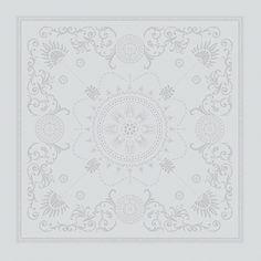 Serviette de table Cérémonie Garnier-Thiebaut - Modèle : Eloise - Serviette de table en coton - Coloris : diamant