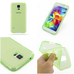 PDair Highly Transparent Soft Gel Plastic Case for Samsung Galaxy S5 SM-G900 (Green)