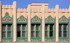 The Rowan Building, corner of Broadway and Pine Ave., Long Beach, CA. Constructed by Charles W. Pettier in 1930 for the Bank of Italy (later the Bank of America).