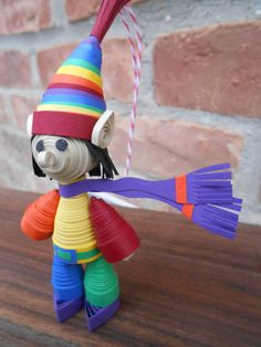 RAINBOW ELF. Gift Quilled Ornament. ROYGBIV Tree by TreeTownPaper, $22.00