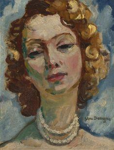 Kees van Dongen - PORTRAIT DE FEMME, Oil on panel