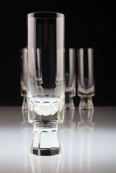 4 Friedrich Kristall Sektgläser Gläser Glas 60er Jahre Trappenkamp