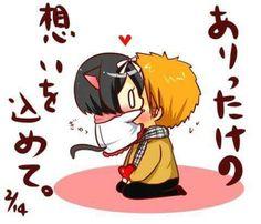 Ichigo Y Rukia, The Best Damn Thing, Bleach Anime, Anime Chibi, Cartoon Art, Bunny, Carrot, Cartoons, Girls