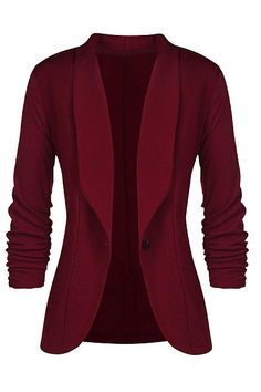 Casual Single Breasted Office Ladies Solid Blazer Long Sleeve Loose Suit Coat Jacket Women Blazers Bayan Mont Size S Color BK Casual Blazer, Blazer Outfits, Blazer Fashion, Fashion Outfits, Dress Outfits, Casual Suit, Womens Fashion, Fashion 2018, Casual Outfits