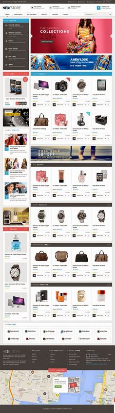 Venus Next Store is a Responsive #Magento Template suitable for any kind of Fashion Shop, Hightech Store, Gift Shop, Electronics shop and all kinds of marketplace business that needs a feature rich and beautiful presence online. #eCommerce #webdesign