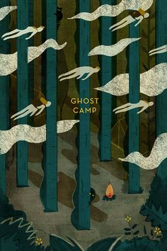 Monster Edition - Mike Ellis - Illustration: ghost camp - beautiful and spooky Book Cover Design, Book Design, Character Design Challenge, Image Tumblr, Male Character, Illustrator, Plakat Design, Illustrations And Posters, Grafik Design