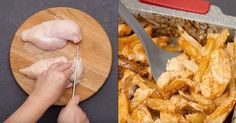 Klasika, ktorá nikdy neomrzí azachráni každý nečakaný obed. Ak potrebujete urobiť obed alebo večeru naozaj nečakane rýchlo, potom si založte tento chutný arýchly receptík na kuracie prsia na hríbikoch. Sú výborné tak so šampiňónmi ako aj sakýmikoľvek inými hubami. Budete potrebovať: 7 zemiakov 500 g kuracích prsných rezňov 100 g šampiňónov 100 g kyslej smotany
