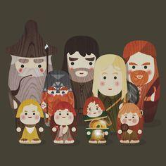 Fellowship of the Ring Matryoshka (Nesting) Dolls