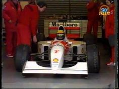 Senna first test of McLaren MP4-8 at Silverstone and Candid interview