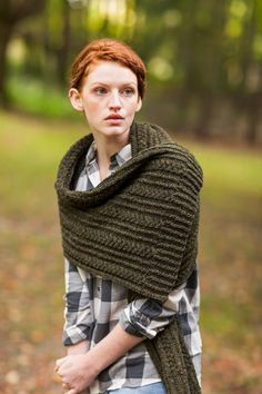 Ceridwen, Cabled Scarf & Wrap by Ann McCauley