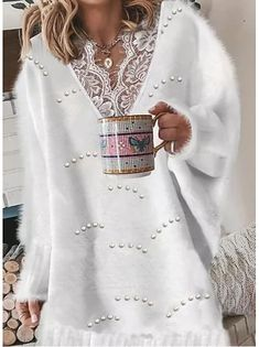 Lace Sweater, Yellow Sweater, Blue Sweaters, Grey Sweater, Long Sleeve Sweater, Sweaters For Women, Cheap Sweaters, Look Boho Chic, Latest Fashion For Women