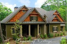 Craftsman Bungalow Style Home Plans | Mountain Style Cottage House Plan - Sugarloaf Cottage | House Plans ...