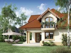 Projekat kuće sa potkrovljem i garažom – Minor House Construction Plan, Bungalow House Plans, Little Houses, Exterior Paint, Home Fashion, My House, How To Plan, House Styles, Places