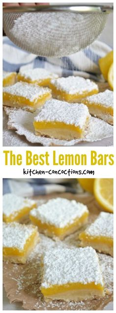 The Best Lemon Bars - This go to lemon bar recipe is tried and true and the perfect dessert for a spring or summer dinner party!
