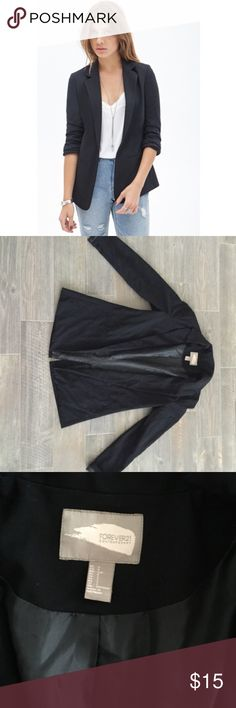 Forever 21 basic black blazer From contemporary line. Lightly used, still in great condition! Forever 21 Jackets & Coats Blazers