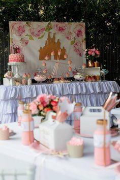 Kara's Party Ideas Rose Gold Princess Party | Kara's Party Ideas