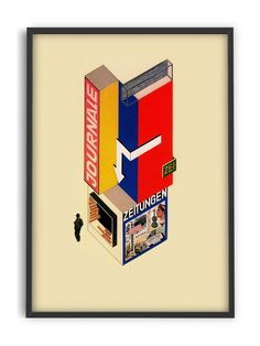 Beautiful Bauhaus art Exhibition Poster of the highest quality. Art print on eco-freindly FSC paper. Art Exhibition Posters, Bauhaus Art, Journal, All Art, Vivid Colors, Museum, Display, Illustrations, Illustration