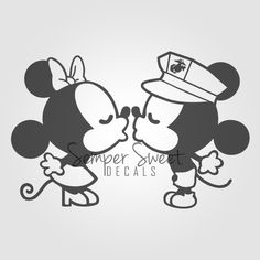 #usmc #marines #usmcwife   USMC love wife military decal Semper Sweet - Mice Couple Decal [All Branches], $4.00 (http://sempersweet.com/mice-couple-decal-all-branches/)