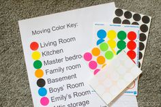 Moving Organization Tip - Moving Color Key (not sure if I'll need this if the boxes are already labeled, but might be a helpful visual tool for the little ones)