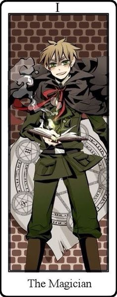 Hetalia Tarot Cards. The Magician Card I England