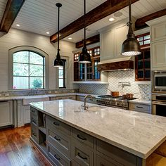 Options for a kitchen design with no window over the sink for Acorn kitchen cabinets