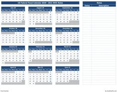 Download US Federal Fiscal Calendar 2020-21 With Notes Excel Template - ExcelDataPro 100 Years Calendar, Calendar 2020, Fiscal Calendar, Excel Calendar Template, Fiscal Year, 21st, Notes, Ink, Blue