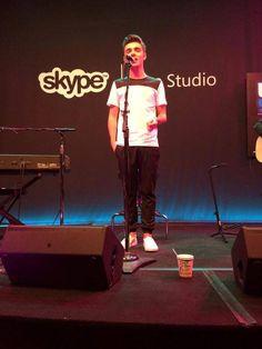 Nathan Sykes at Skype Live Studio, Portland on 05.09.15