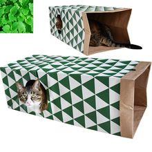 Pet туннель Cat Отпечатано зеленый прекрасный извивающихся котенок туннель игрушка с мячом играть забавная игрушка туннель оптом игрушки для ...(China)
