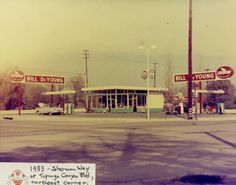 Gas Station on the corner of Sherman Way and Topanga Cyn Blvd. in Canoga Park in 1953.
