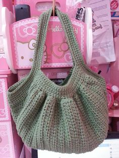 """New Cheap Bags. The location where building and construction meets style, beaded crochet is the act of using beads to decorate crocheted products. """"Crochet"""" is derived fro Crochet Round, Bead Crochet, Knit Crochet, Crochet Handbags, Crochet Purses, Bible Bag, Crochet Market Bag, Bag Pattern Free, Purse Patterns"""