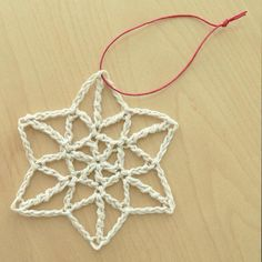20 Terrific FREE Crochet Patterns for Practicing Tall Stitches: Crochet Snowflake Ornament Free Pattern