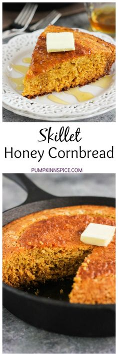 This Skillet Honey Cornbread is soft, moist, and bursting with flavor ...