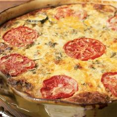 Garden Vegetable Crustless Quiche -- healthy, easy to assemble the night before, refrigerate, and cook quickly the next morning.
