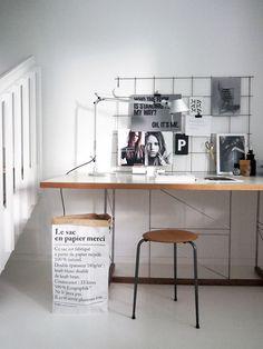 DIY: Iron mesh moodboard   Image via Stil Inspiration.