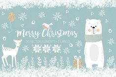 Christmas collection by Natdzho  https://creativemarket.com/Natdzho/981735-Christmas-collection?u=inspirationfeed