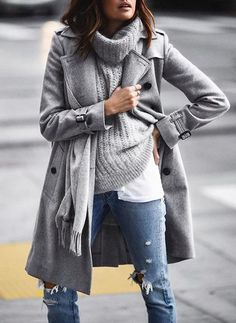 grey shades winter outfit