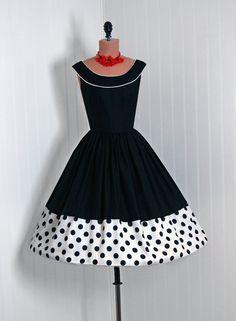 1950's Vintage Polka-Dot
