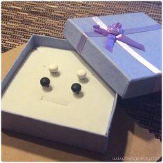 Shipped to Aurora, United States!  www.biesge.etsy.com  #black #white #matte #earrings #studearrings #earstuds #biesge #etsy #shopping #mensjewelry #mensearrings #unisex #aurora #unitedstates #women #men #instacool #instalike #instamood #pics #photo #look #love #bestoftheday #picoftheday #accessories #jewelry