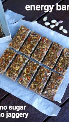 Energy bar recipe protein bar recipe dry fruit energy bars nut bar is part of Energy bars recipe - easy energy bar recipe protein bar recipe dry fruit energy bars nut bar Indian Dessert Recipes, Sweets Recipes, Cake Recipes, Snack Recipes, Cooking Recipes, Easy Energy Bar Recipes, Protein Bar Recipes, Burfi Recipe, Jamun Recipe