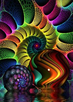 ❤~ Fractales ~❤ New Beginnings by Rozrr on DeviantArt Art Fractal, Fractal Images, Fractal Design, Kaleidoscope Art, World Of Color, Psychedelic Art, Op Art, Sacred Geometry, Art Forms