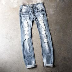 12th street distressed skinny denim jeans - shophearts - 1