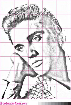 How-to-Draw#Elvis#Presley Portrait Sketches, Pencil Portrait, Portrait Art, Mickey Mouse Stencil, Elvis Memorabilia, Jesus Tattoo, Gene Simmons, Hot Hunks, Realistic Drawings