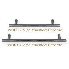 Whitehaus Straight Pull Handle, Solid Brass