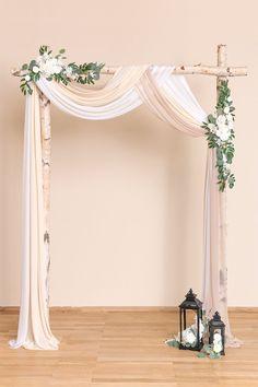 Dream Wedding, Wedding Day, Gown Wedding, Lace Wedding, Wedding Cakes, Wedding Rings, Diy Wedding Arbor, Simple Wedding Arch, Elegant Backyard Wedding